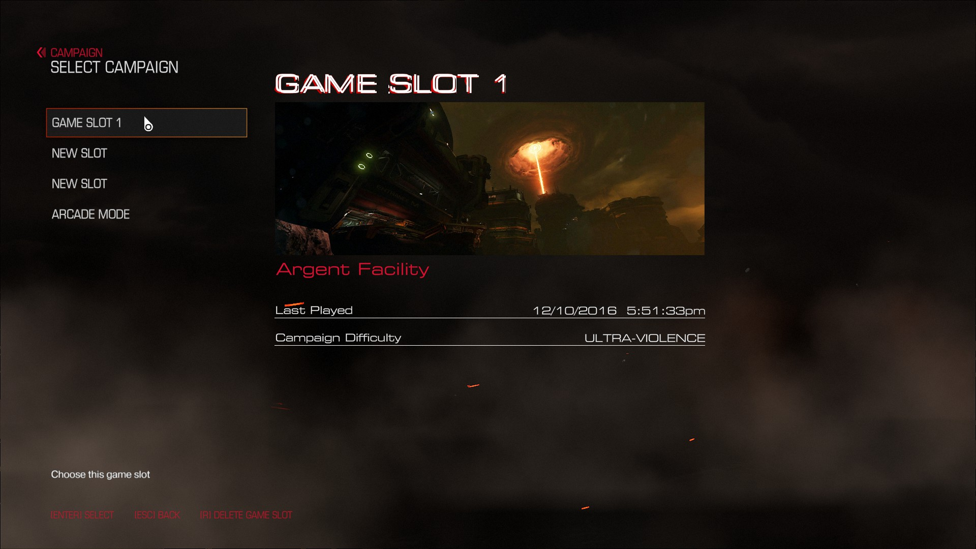 DOOM | Good Video Game Interface Screenshots