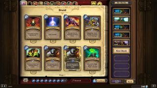 Hearthstone inventory ui screenshot