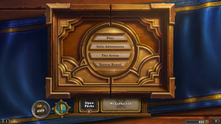 Hearthstone main menu ui screenshot