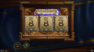 Hearthstone quests ui screenshot
