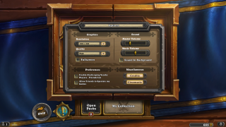 Hearthstone settings ui screenshot