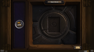 Hearthstone unboxing ui screenshot