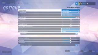 Overwatch settings ui screenshot