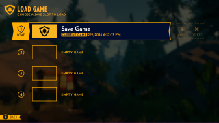 Firewatch main menu ui screenshot