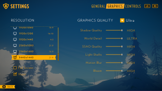 Firewatch settings ui screenshot