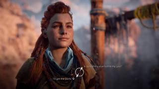 Horizon Zero Dawn dialogue ui screenshot