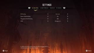 Horizon Zero Dawn settings ui screenshot