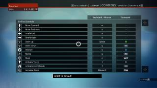 No Man's Sky controls ui screenshot