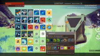 No Man's Sky inventory ui screenshot