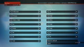 No Man's Sky settings ui screenshot