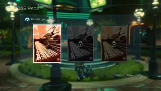 Ratchet & Clank level selection ui screenshot