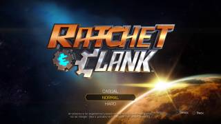 Ratchet & Clank main menu ui screenshot