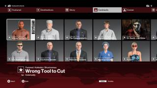 HITMAN level selection ui screenshot