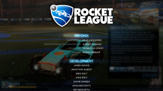 Rocket League credits ui screenshot