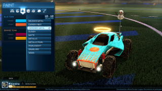 Rocket League inventory ui screenshot