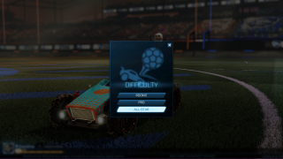 Rocket League main menu ui screenshot
