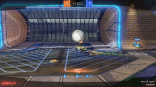 Rocket League replay ui screenshot