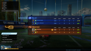 Rocket League scoreboard ui screenshot