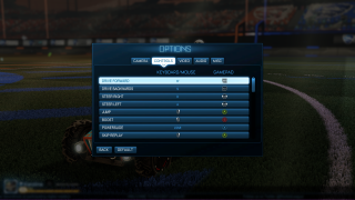 Rocket League settings ui screenshot
