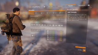 Tom Clancy's The Division inventory ui screenshot