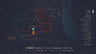 Tom Clancy's The Division map ui screenshot