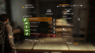 Tom Clancy's The Division store ui screenshot