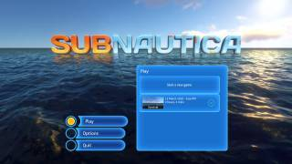 Subnautica main menu ui screenshot