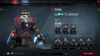 Dota 2 inventory ui screenshot