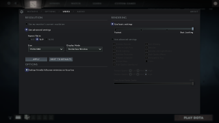 Dota 2 settings ui screenshot