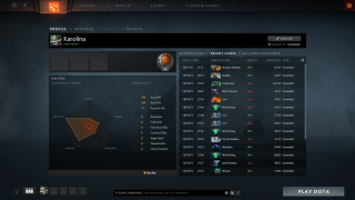Dota 2 stats ui screenshot